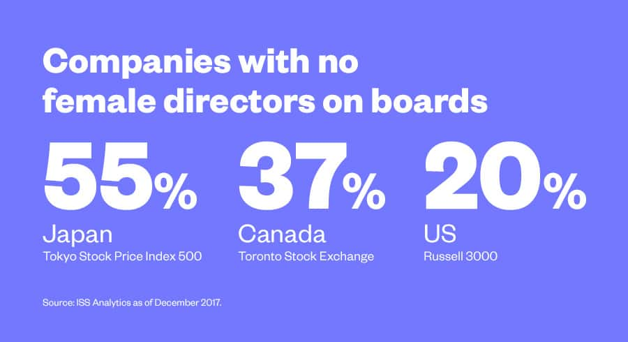 companies with no female directors on boards